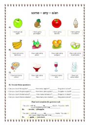 English Worksheet: What have you got in your basket? Countables and Uncountables