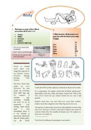 English Worksheets: Body and Body Language (3 pages)