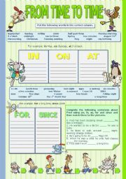 English Worksheet: FROM TIME TO TIME