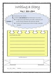 writing short story outline worksheets