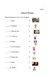 English Worksheets: Common Phrases
