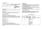 English Worksheets: activity plan