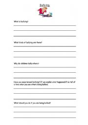 Printables Bullying Worksheets english teaching worksheets bullying bullying