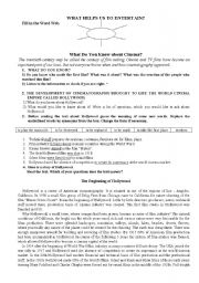 English Worksheet: What do you know about cinema: the beginning of Hollywood.