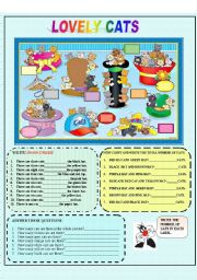 English Worksheets: lovely cats