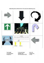 English Worksheets: Learning Direction Symbols