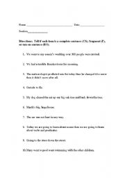 Run On Sentences Worksheet | Worksheet