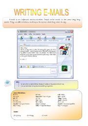 English Worksheet: Writing emails
