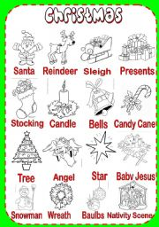 Christmas Pictionary - worksheet by serennablack