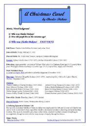 English Worksheets: A Christmas Carol . Scrooge´s ghosts Movie/ novel Background
