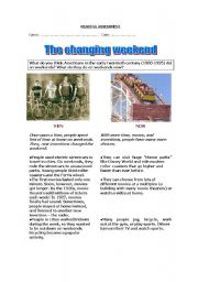 English Worksheets: The changing weekend