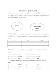 English Worksheets: demonstrative exercises