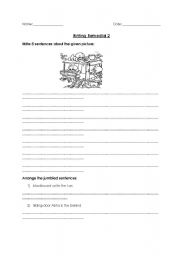 English Worksheets: Writing worksheet