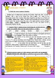 FULL TERM TEST N° 1 FOR 8TH BASIC EDUCATION ( part 2 )