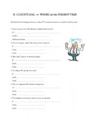 English teaching worksheets: Expressing wishes