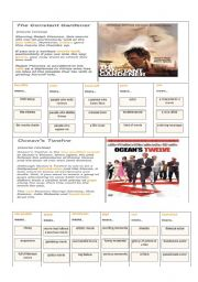 English Worksheets: words related to movies part 2