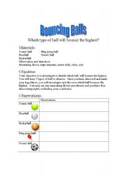 Printables Scientific Inquiry Worksheet english worksheets scientific inquiry experiment bouncing balls worksheet balls