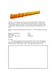 English Worksheets: Becoming and Inventor