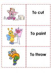 English Worksheets: memory game (6)
