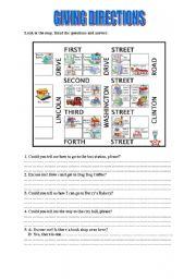 giving directions esl worksheet by scarlett. Black Bedroom Furniture Sets. Home Design Ideas