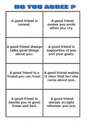 Qualities that make a good friend