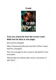 essay about crash film