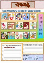 English Worksheets: Action Verb