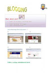 English Worksheets: blogging