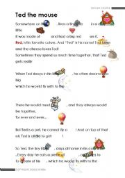 English Worksheets: Ted The Mouse