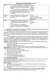 English worksheet: RWCT for English lessons