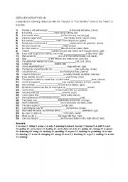 ESL Worksheets for adults: Gerund worksheet