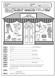 English Worksheets: HOW MUCH IS IT ?