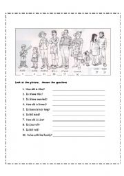 English Worksheet: for BEGINNERS:  Review to be, Yes/No questions,