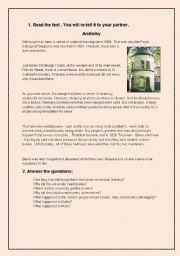 English Worksheet: Edinburgh - legends