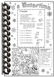 English Worksheets: It�s Wintertime