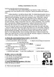 English Worksheets: The Oral Presentation