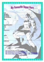 my favourite super hero:batman