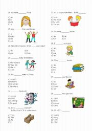English Worksheets: 4th Grades Test  -75 Questions (Part 2)