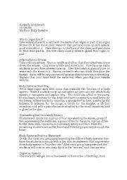 English Worksheets: Body System favorites