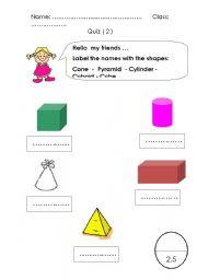 Math Quiz 2 ( 3D Shapes )