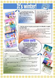 English Worksheets: It�s winter!