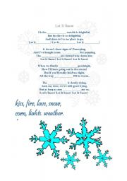 English Worksheet: Let it snow
