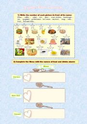 English Worksheet: Time for lunch