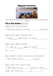 Muppets Christmas Worksheet