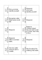 The Ultimate Telephoning Challenge Cards Phone Calls Busy Line Business English Role Play Cards Esl Worksheet By Blunderbuster