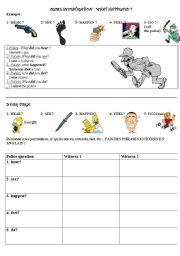 crime investigation -detective story worksheet 1