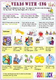 English Worksheets: ING CLAUSE