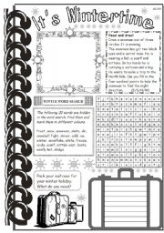 English Worksheets: It�s Wintertime 2