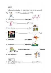 English worksheet: unjumble the letters and find out the correct word.