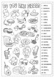 English Worksheet: Food Pictionary